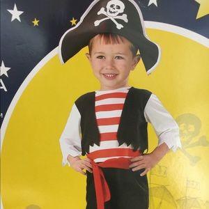 Pint Size Pirate Toddler Boys Halloween Costume